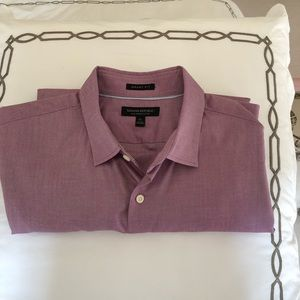 Banana Republic men's purple button down